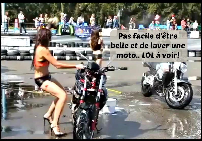Trop Drole Voyez Ce Qui Arrive Quand Une Fille Essaie De Laver Une Moto