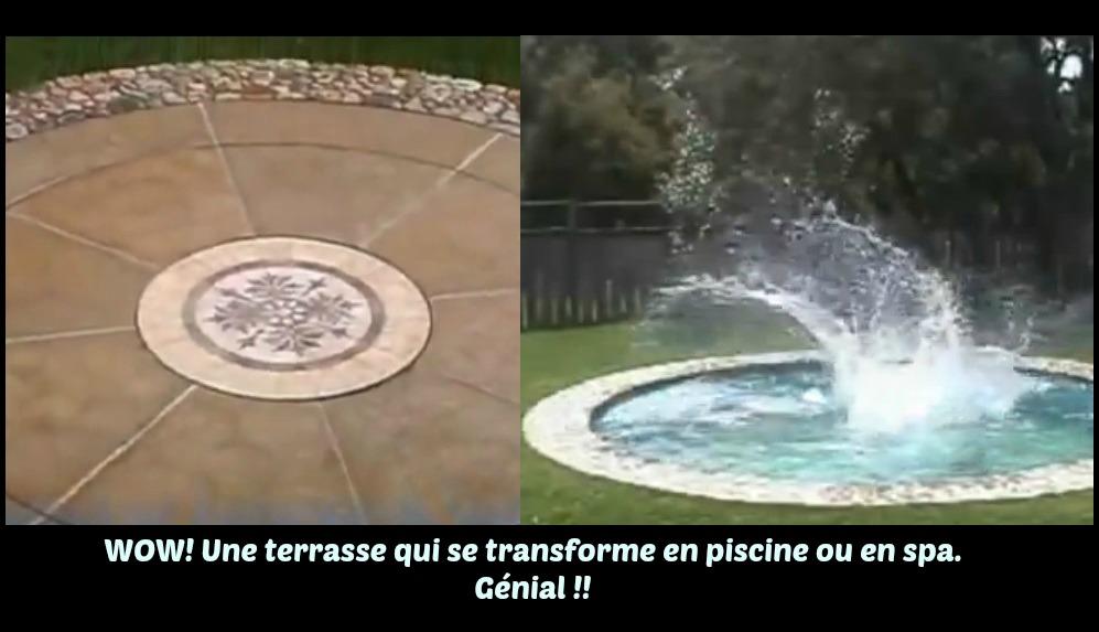 terrasse transforme en piscine