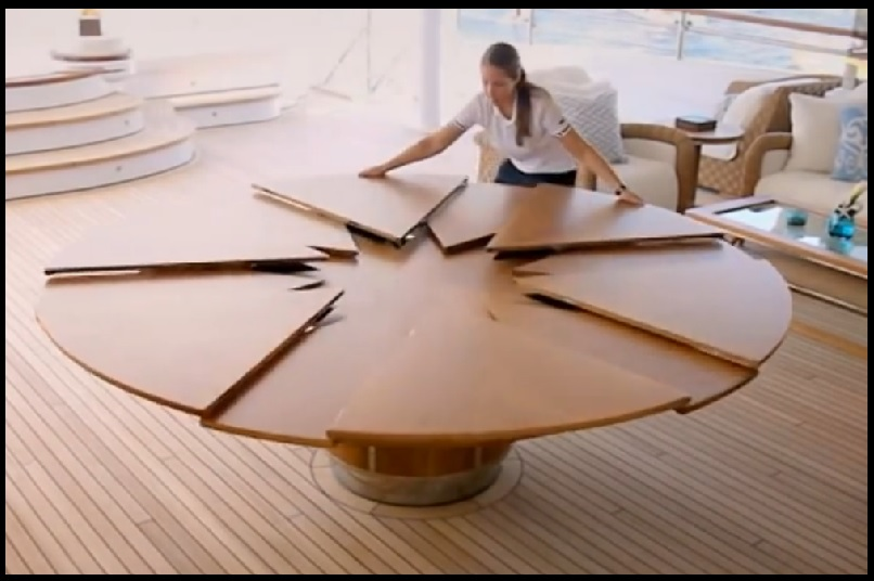 Spectaculaire une table qui se transforme de diverses for Table salle a manger qui se deploie