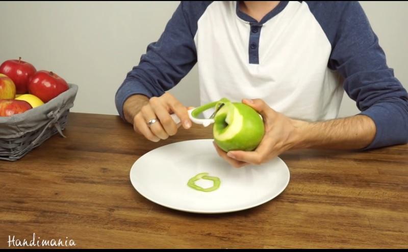 eplucher pomme rapidement