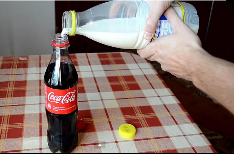 recette expérience coca cola lait