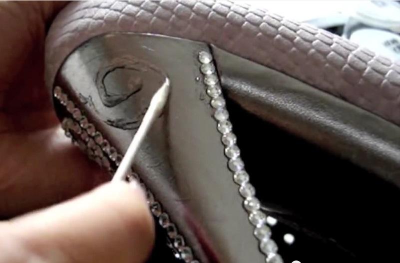 chaussure personnalise cristaux swarovski