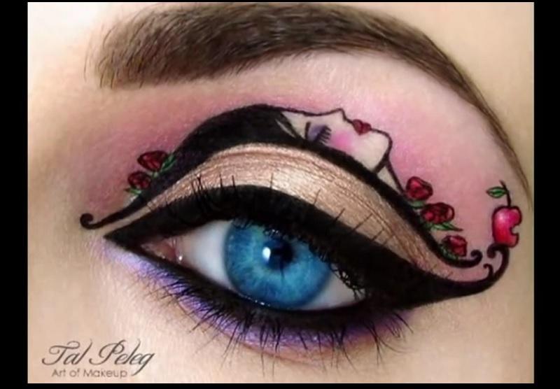 elle cr e de superbes maquillages pour les yeux certains sont m me des oeuvres d 39 art wow. Black Bedroom Furniture Sets. Home Design Ideas