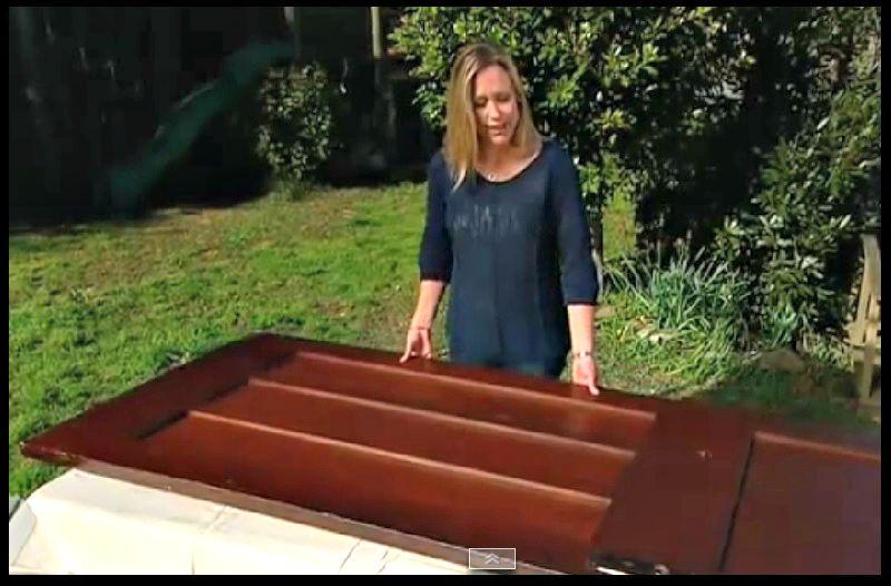 Elle transforme une vieille porte en un meuble dernier cri sa cr ation est m - Que faire avec une vieille baignoire ...