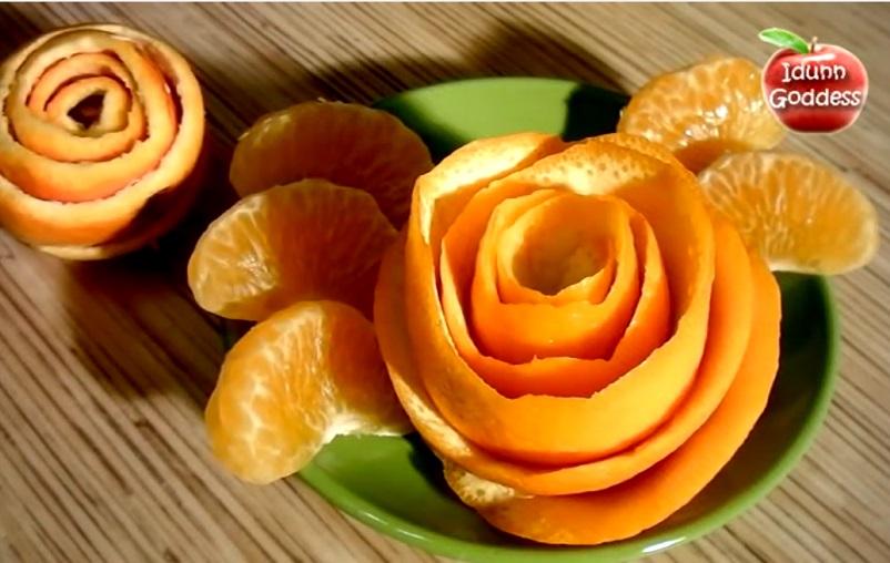Voici comment faire de jolies d corations pour vos plats - Pelure d orange pour parfumer ...