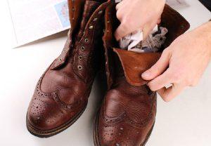 astuce hiver chaussure humidite