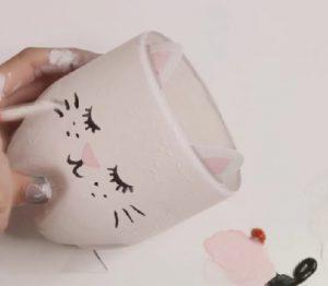 bricolage chat peinture facile