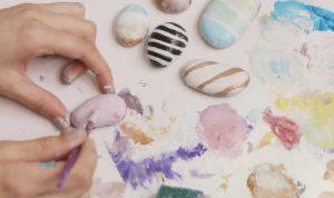 bricolage pierre peinture facile