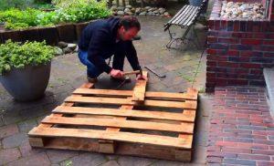 palette bois fabriquer berceau bois jardin