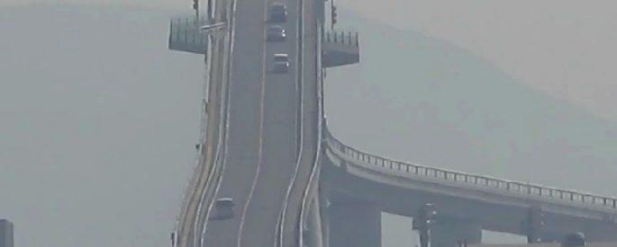 pont le plus terrifiant haut au monde