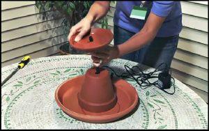 bricolage jardin fontaine d eau pot terre cuite