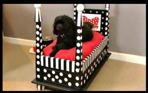 voici comment fabriquer un lit pour votre chien en quelques minutes seulement et magnifique. Black Bedroom Furniture Sets. Home Design Ideas