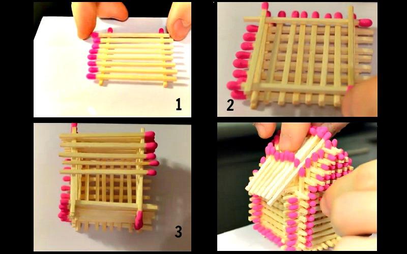 Voici comment fabriquer une maisonnette avec des allumettes un passe temps divertissant - Site de bricolage maison ...
