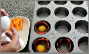 recette moule muffin oeuf bacon fromage facile
