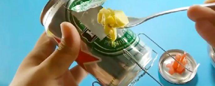 astuce canette pop corn