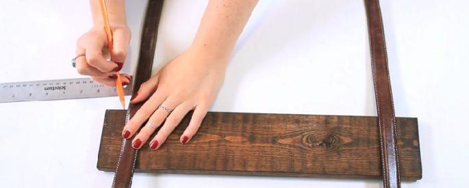 bricolage etagere ceinture cuir facile