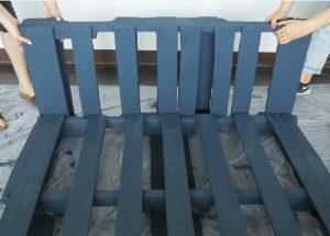 bricolage palette de bois balancoire jardin 4