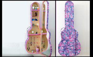 fabriquer guitare armoire bijou