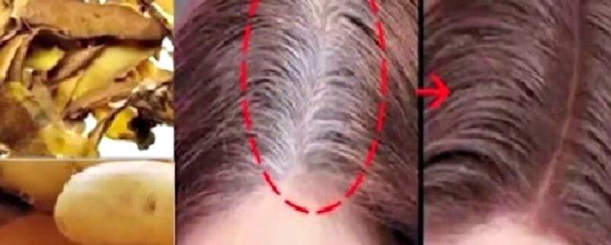 astuce cheveux blanc pomme de terre