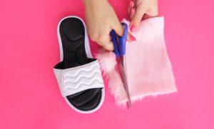 fabriquer sandale fausse fourrure