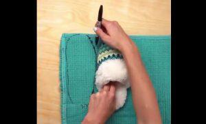 astuce faire le menage chausson bricolage