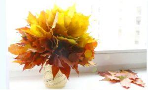 bricolage bouquet de feuille automne