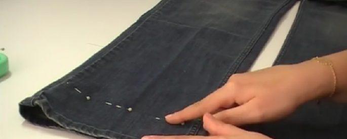 astuce raccourcir jeans