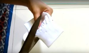 bricolage chaussette blanche poupee