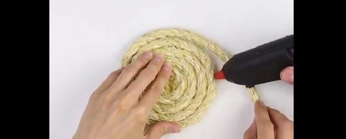 bricolage tapis entree maison