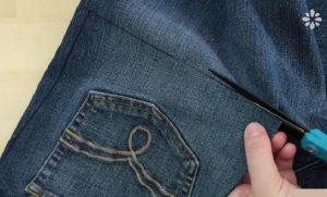 bricolage vieux jeans facile