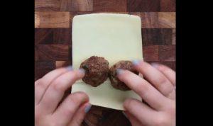 recette boulette de boeuf hache fromage