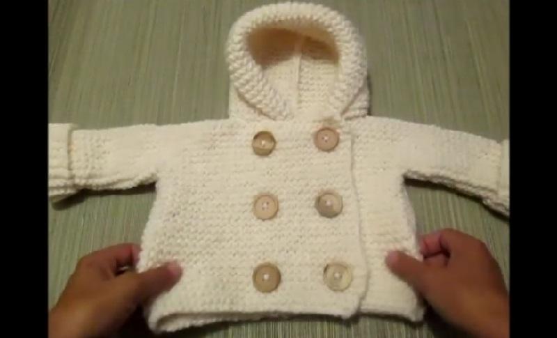 Voici Comment Tricoter Un Cardigan Pour Bébé... Très Joli Et Facile ! » f5caf3e84fa