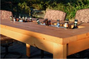 fabriquer table de jardin frigo