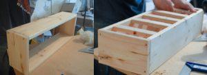 fabriquer table de jardin mesure jardiniere