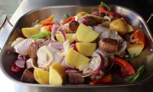 recette cuisse de poulet saucisse pomme de terre