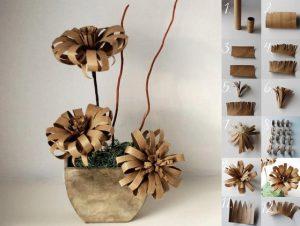 bricolage pot de fleurs carton