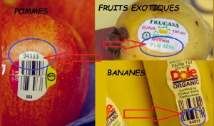 code a barre fruit legume signification