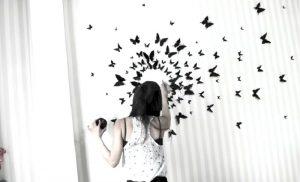 deco mur maison papillon