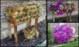 fabriquer jardiniere palette bois