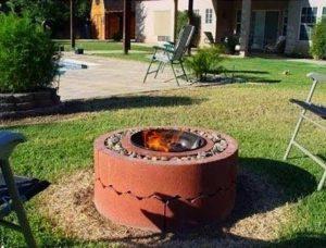 fabriquer poele grill exterieur brique 3