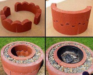 fabriquer poele grill exterieur brique