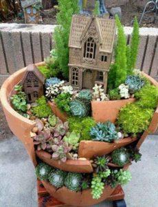 jardin miniature pot terre cuite