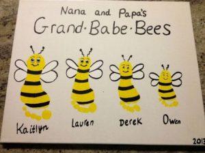 peindre aves les mains abeilles