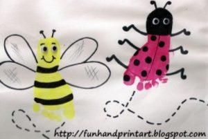 peindre aves les pieds abeille