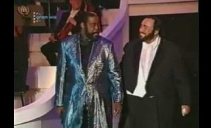 Luciano Pavarotti Barry White duo