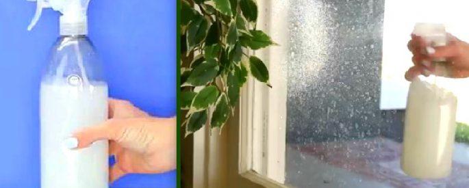 astuce nettoyer vitre coulisse