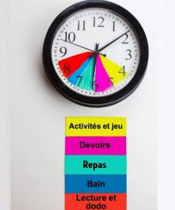bricolage horloge humeur activites