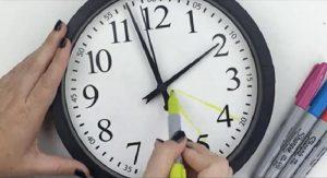 bricolage horloge humeur crayon