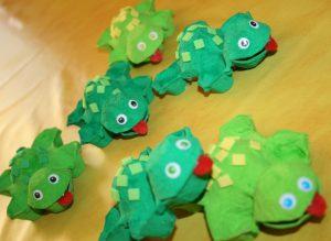 bricolage oeuf en carton tortue enfant