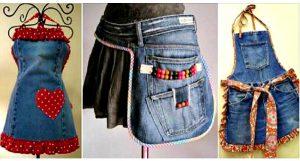 bricolage tablier jean